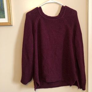 Maroon comfy sweater - Plus size.